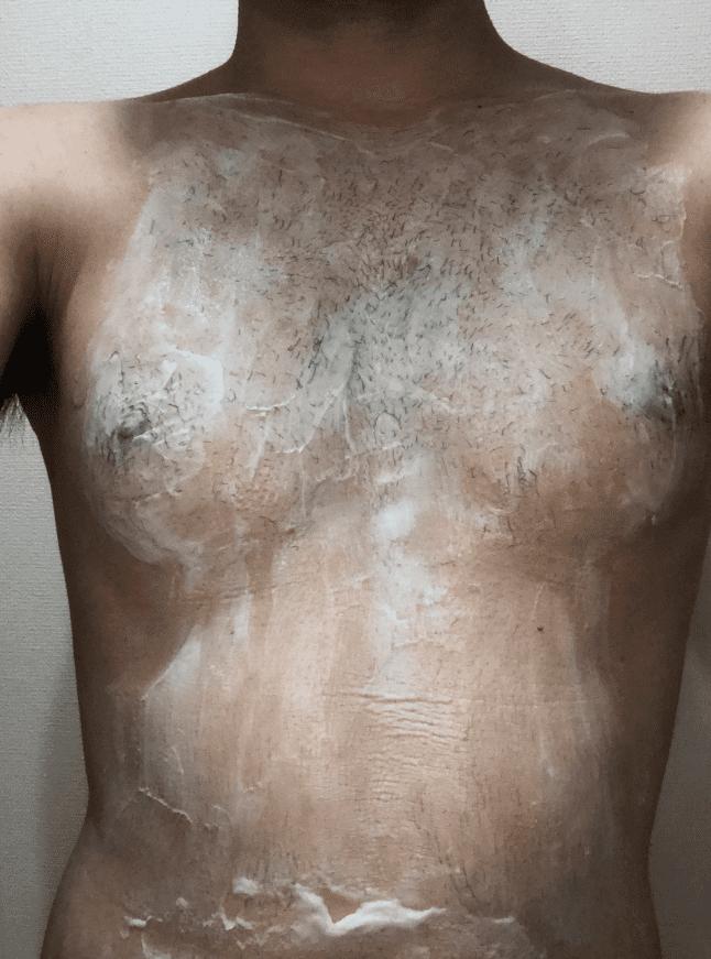 ゼロファクター使用中の胸毛